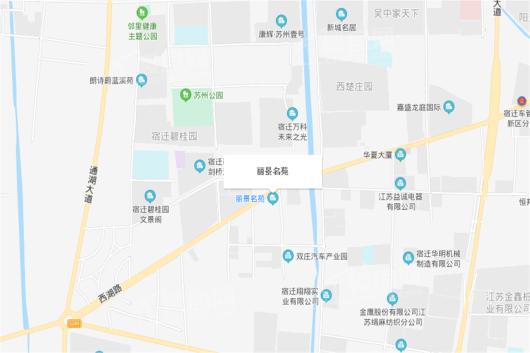 丽景名苑交通图