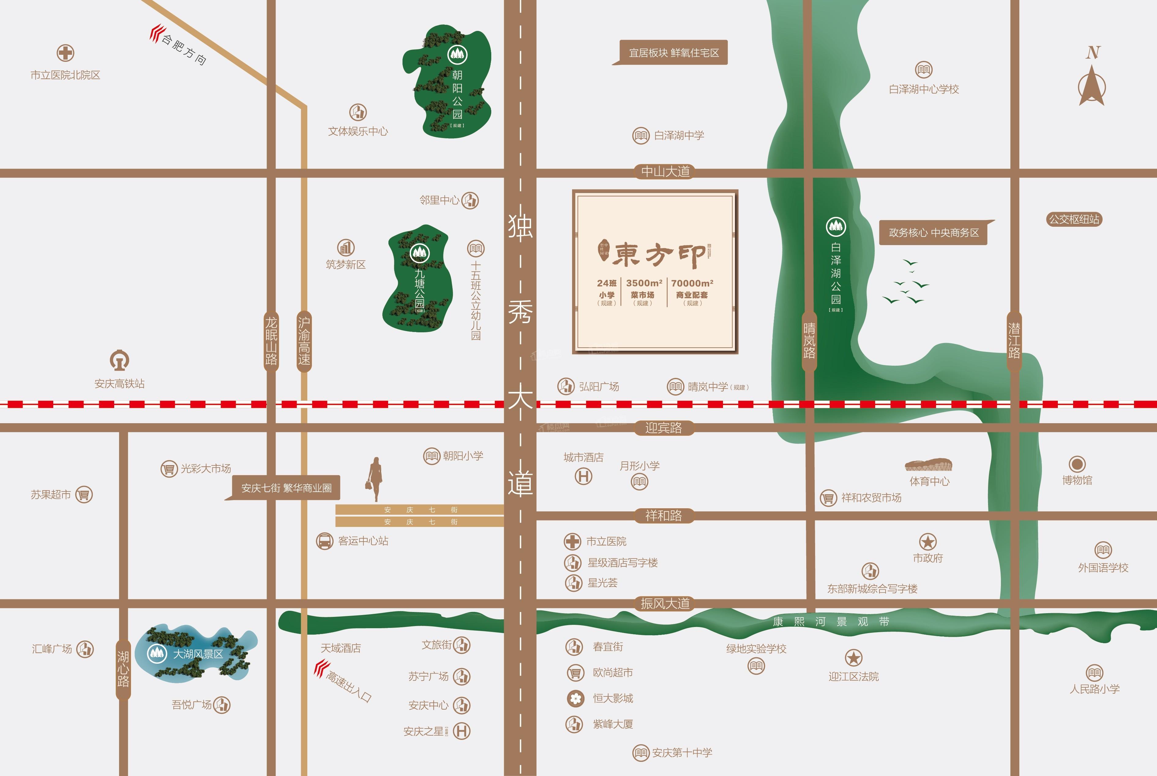 碧桂园中梁·东方印位置图