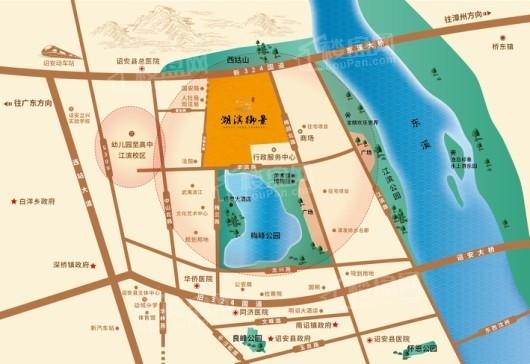 翰盛湖滨御景交通图