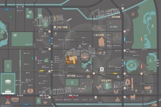 世茂IN三里交通图