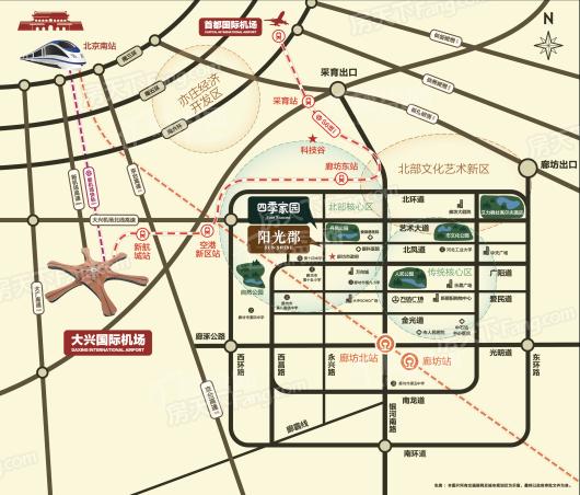 廊坊阳光郡交通图