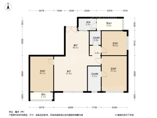 滨江樾城(公寓)户型图