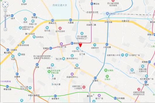 中铁御花府交通图