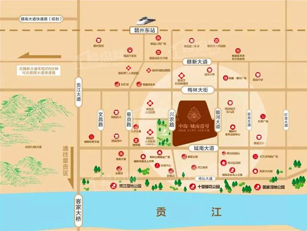 中海城南壹号位置图