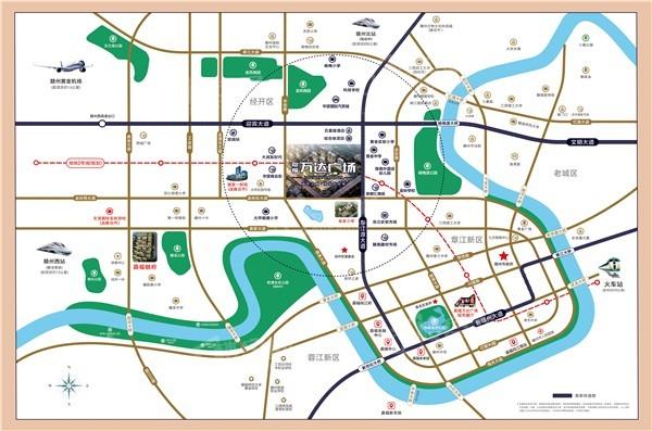 嘉福万达广场位置图