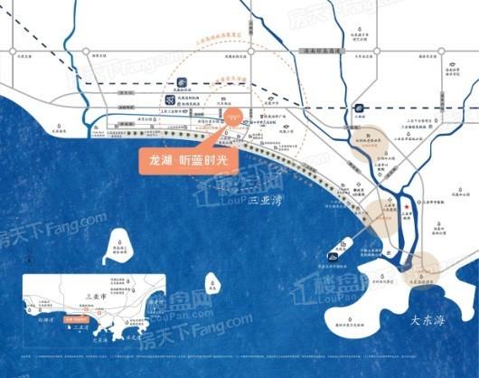 海南龙湖听蓝时光交通图
