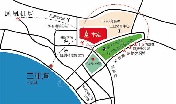 三亚凤凰苑位置图