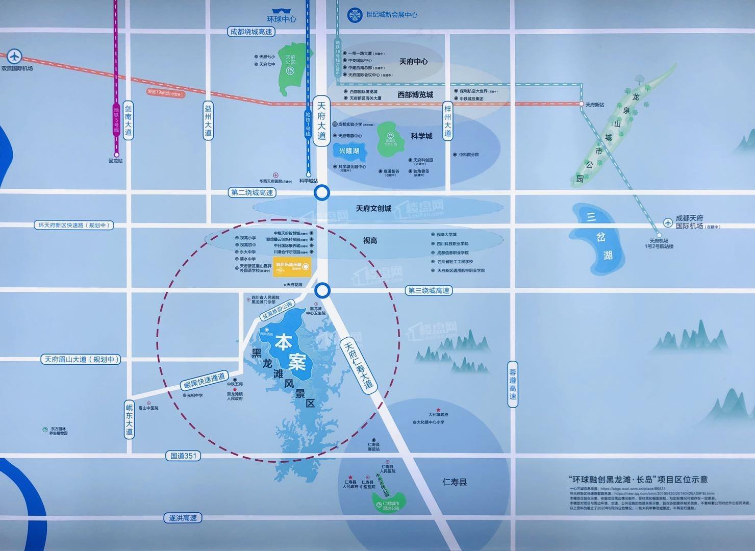黑龙滩长岛位置图