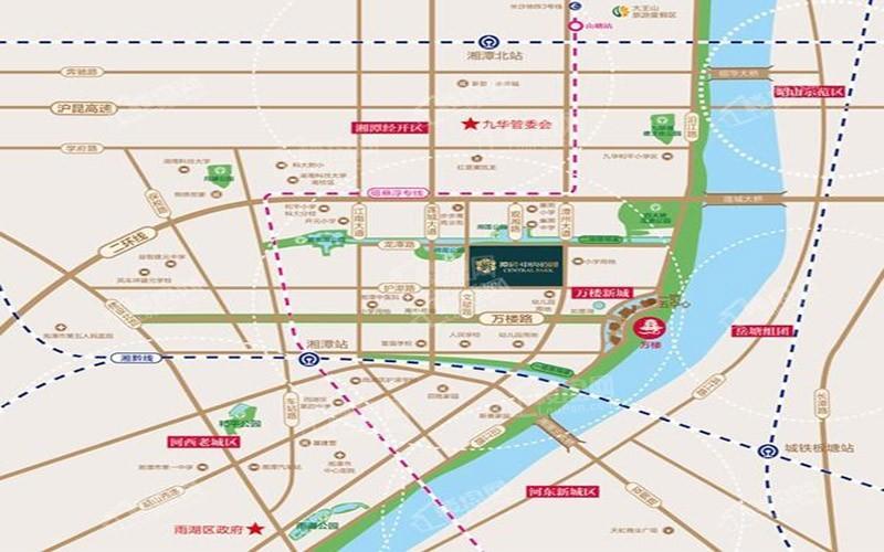 潭房·中央公园位置图