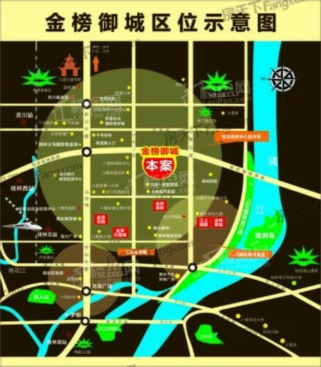 金榜御城交通图