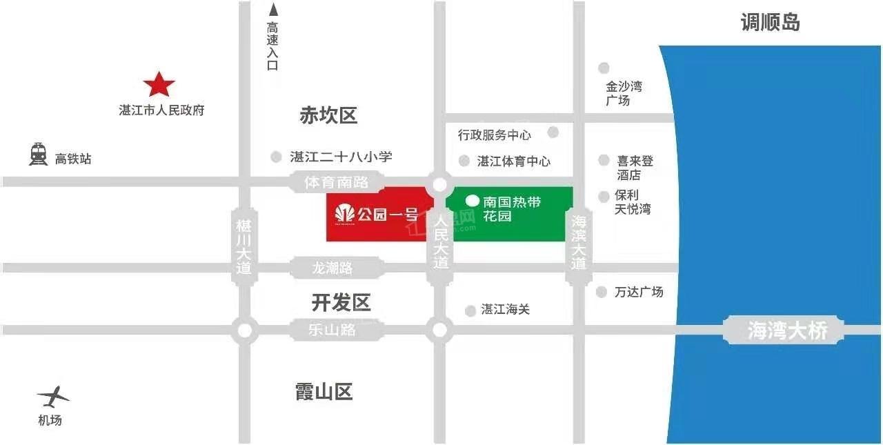 公园一号位置图