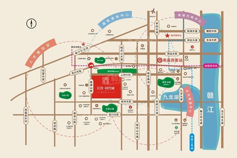 江鈴時代城位置圖