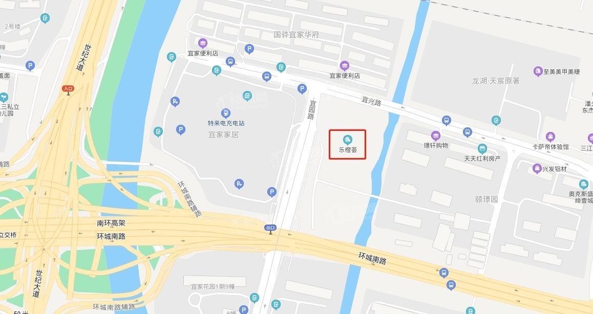 乐橙荟广场位置图