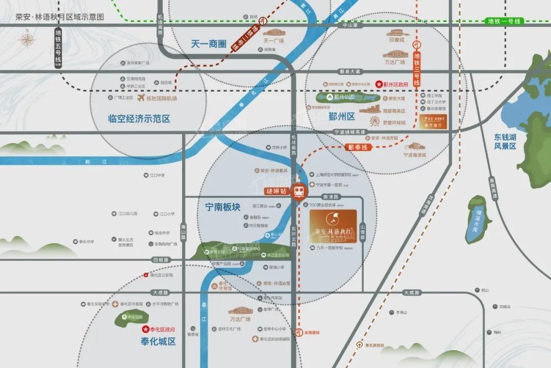 荣安林语秋月位置图