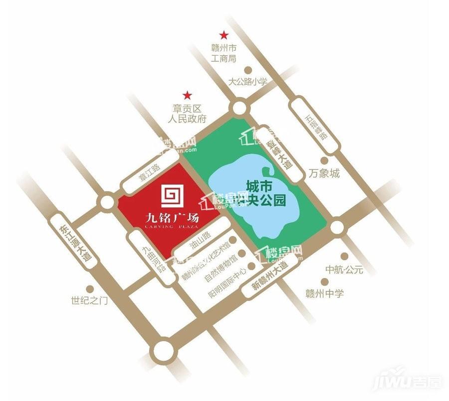 九铭广场位置图