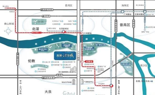 龙湖江与城位置图