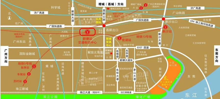 东江逸珑湾位置图