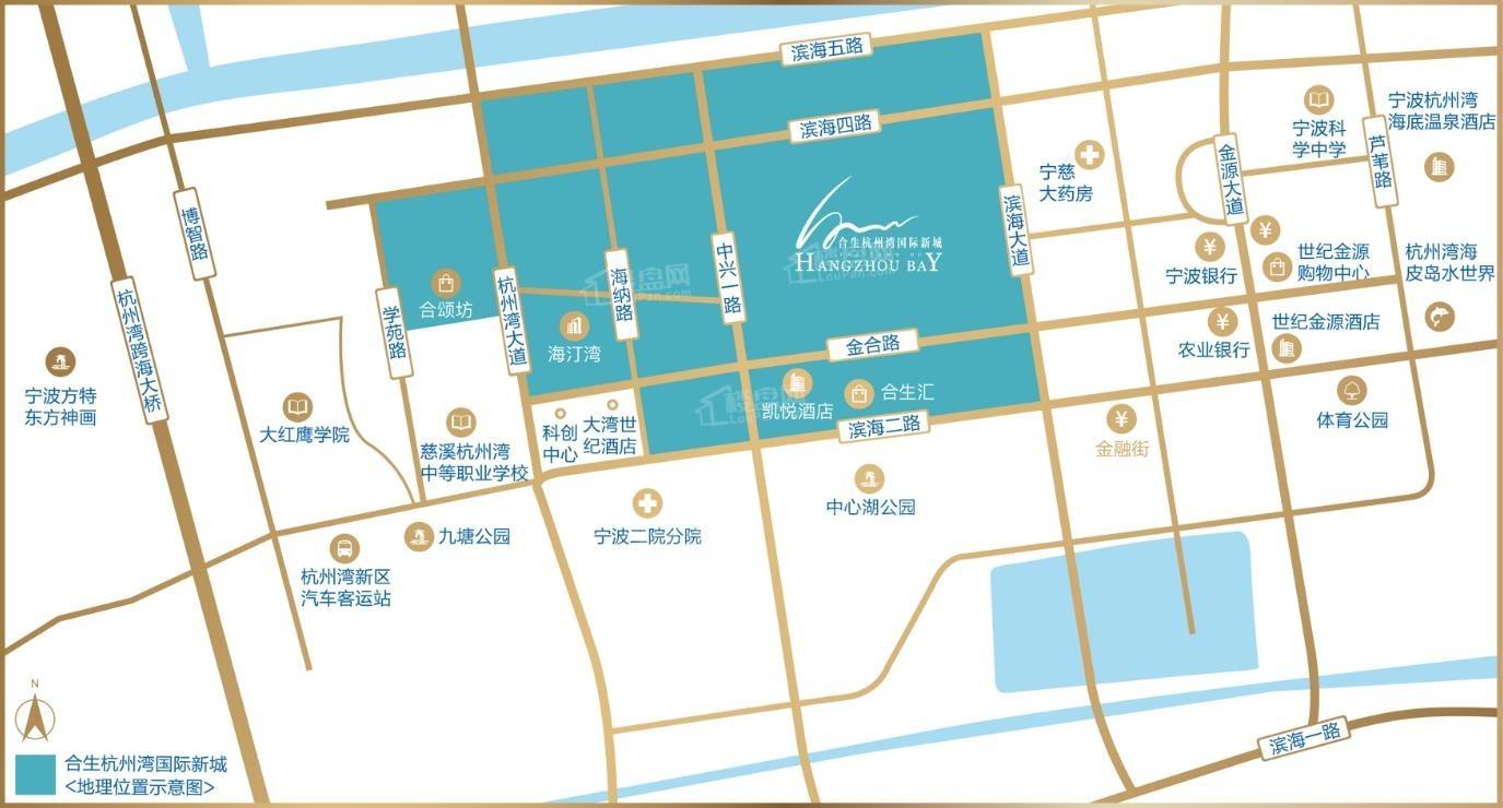 合生杭州湾国际新城位置图