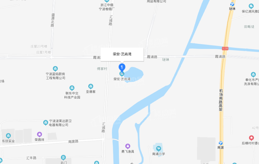 荣安艺尚湾位置图