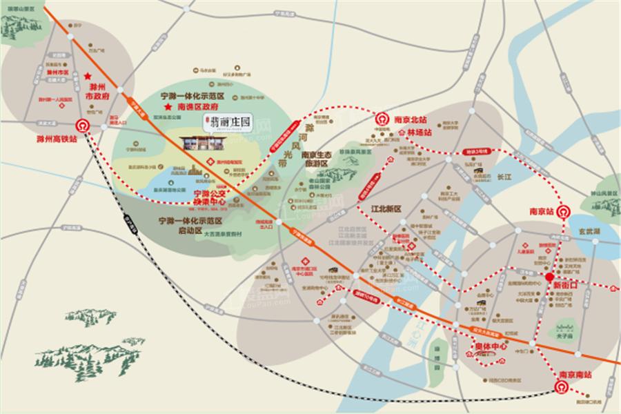 碧桂园翡丽庄园位置图
