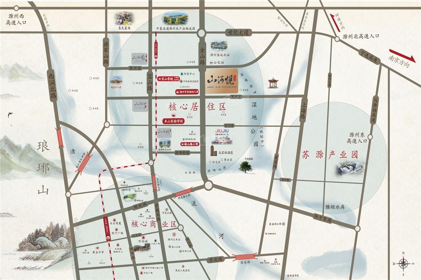 金鹏山河悦位置图
