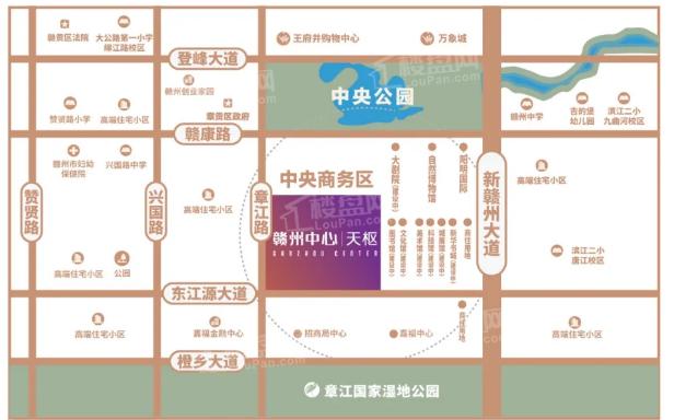 赣州中心天枢位置图