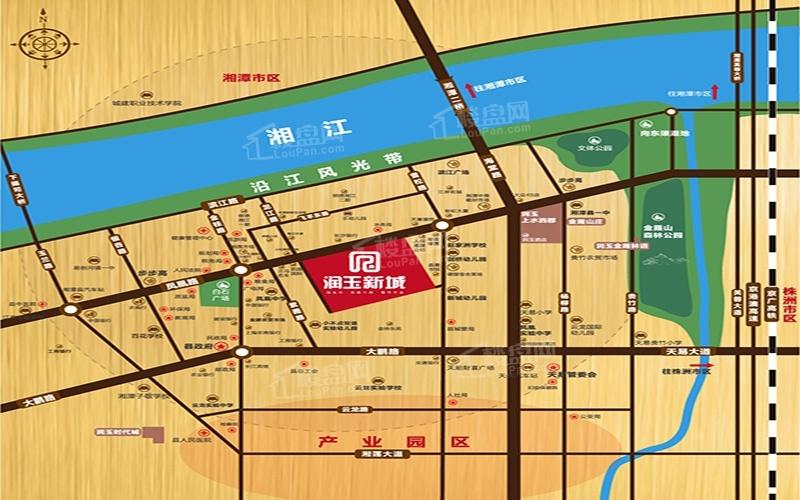润玉新城位置图