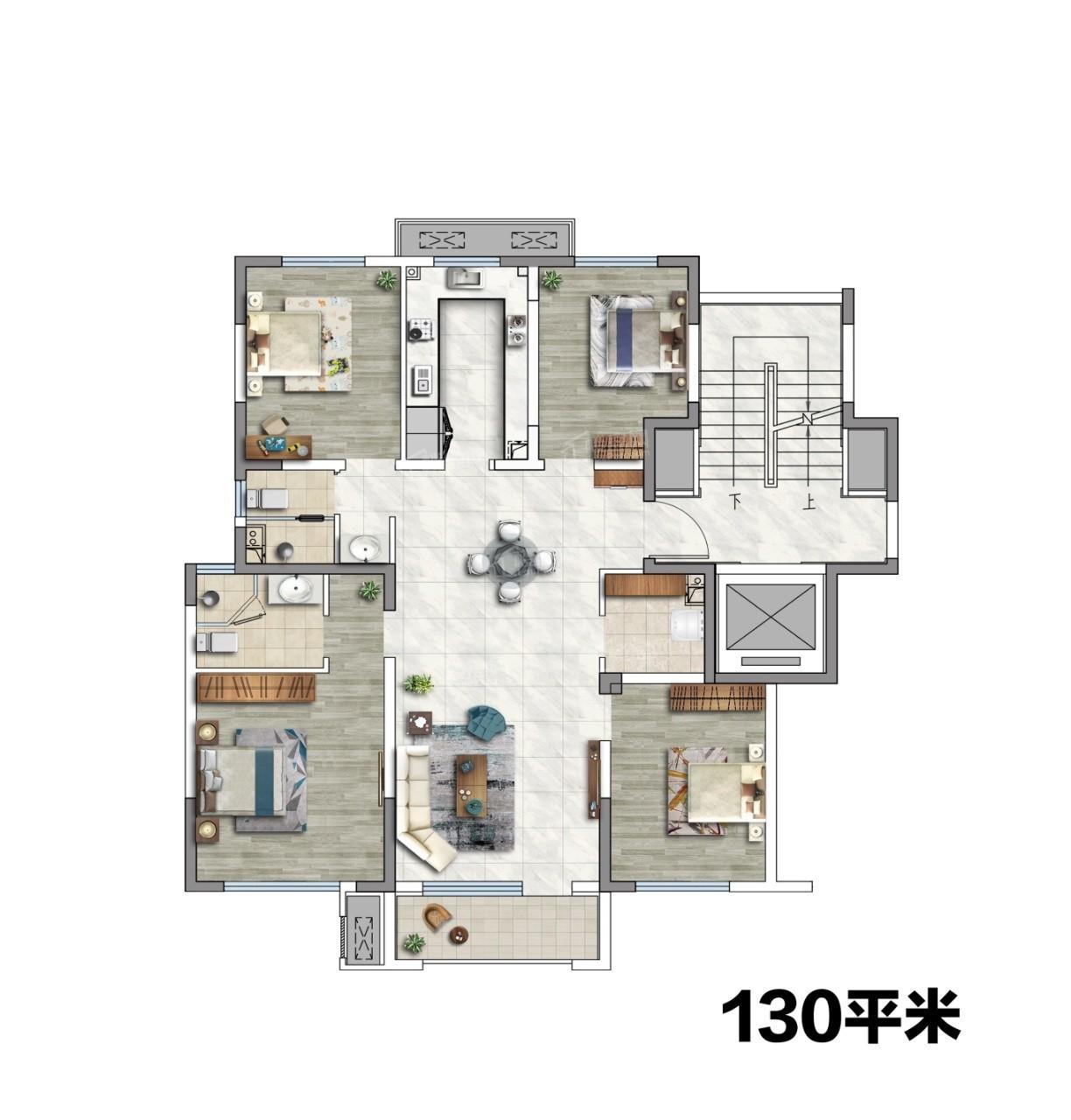 洋房132平户型