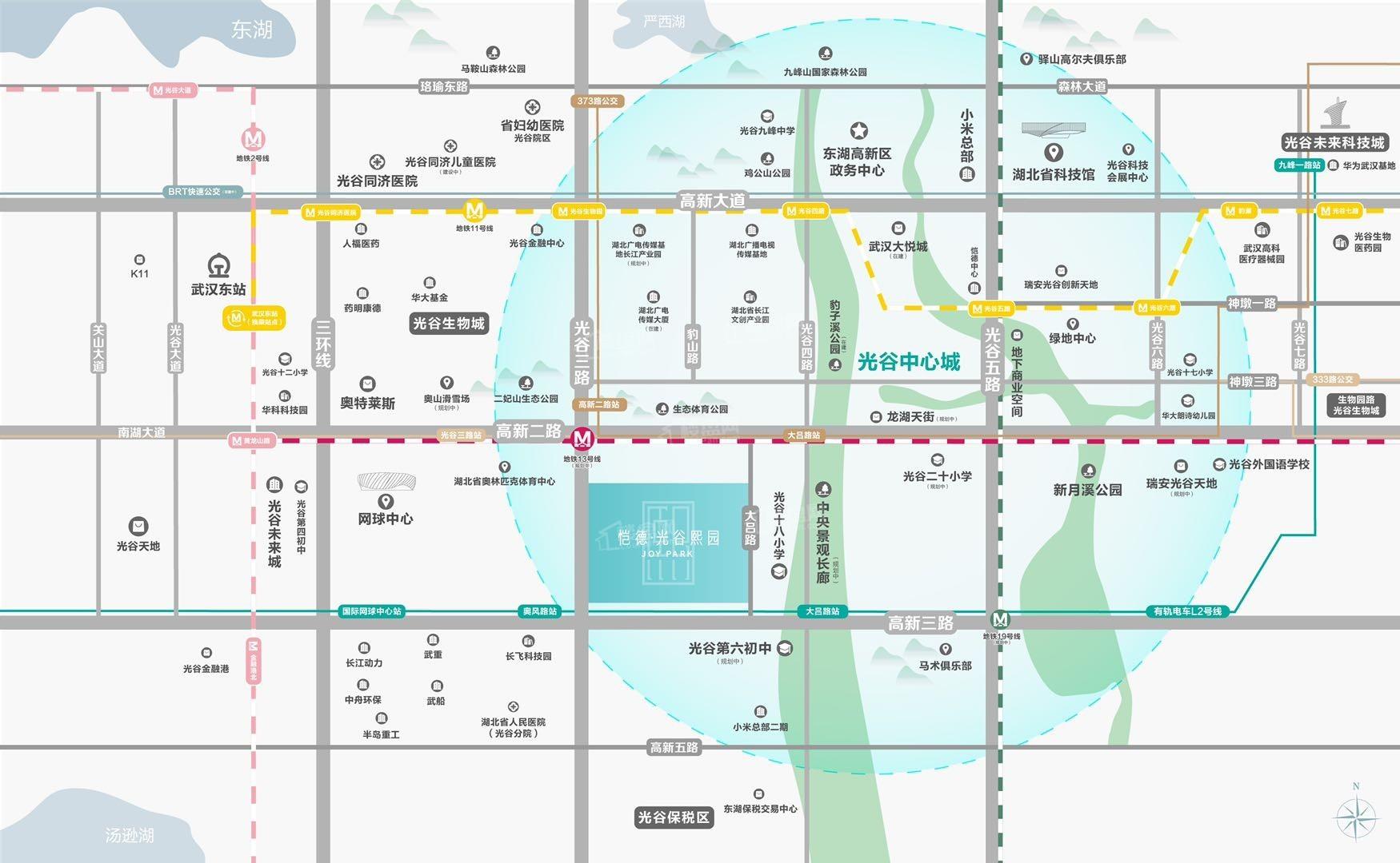 恺德光谷熙园位置图