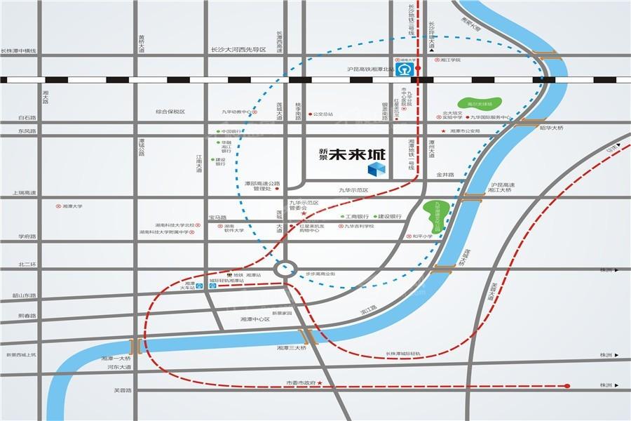 新景•未来城位置图