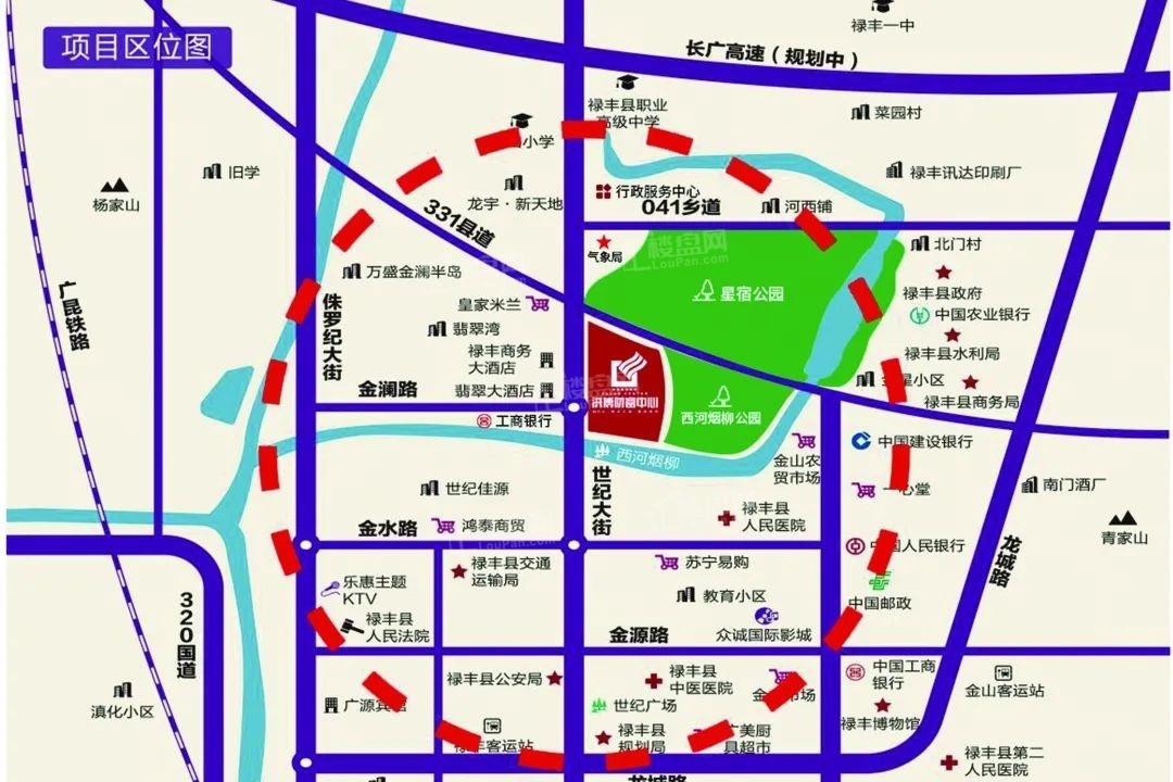 洪博财富中心位置图