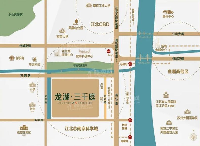 龙湖三千庭位置图