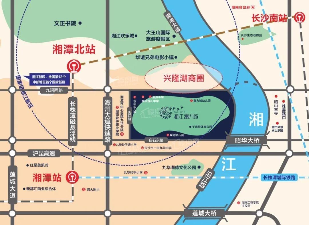 湘江富力城位置图