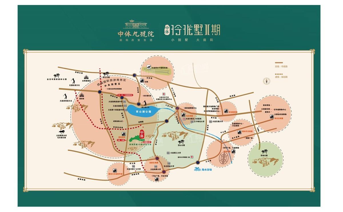 中体玲珑墅位置图
