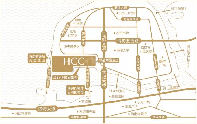 华彩海口湾广场位置图