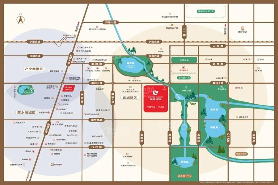 绿城诚园位置图