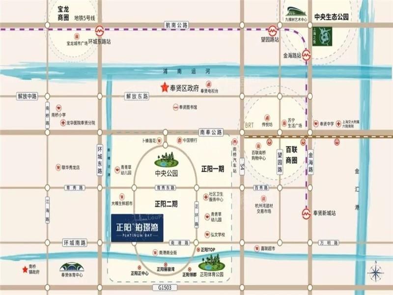 正阳铂璟湾位置图