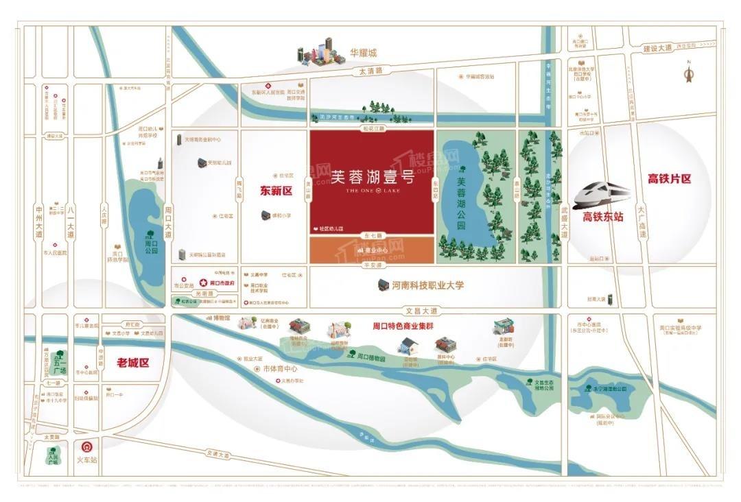 芙蓉湖壹号位置图
