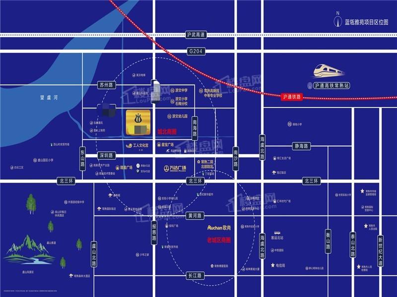 蓝瓴雅苑位置图