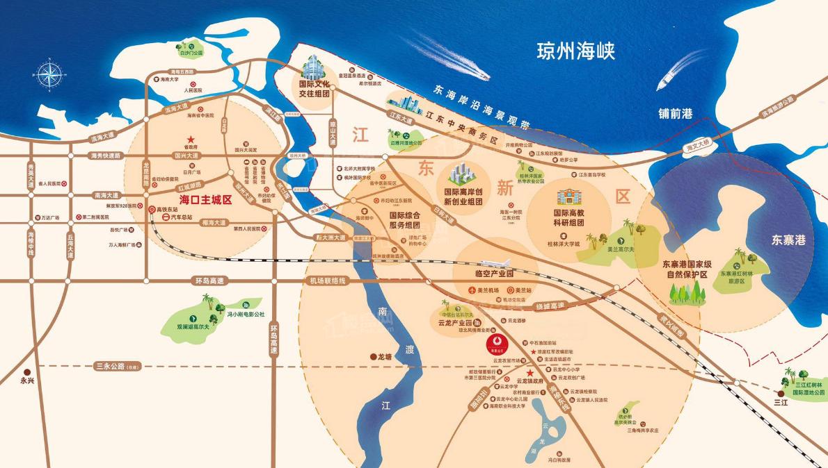 海口凤凰山庄位置图