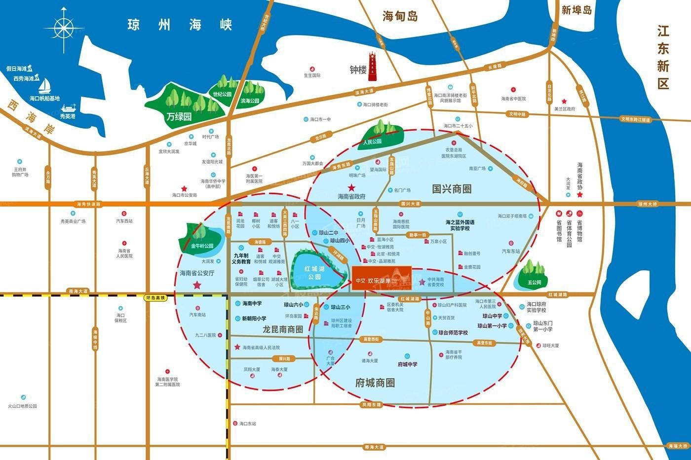中交欢乐湖岸位置图