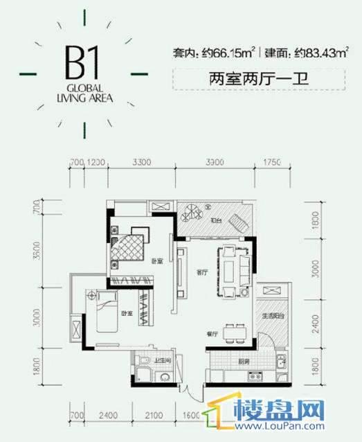 B1户型图
