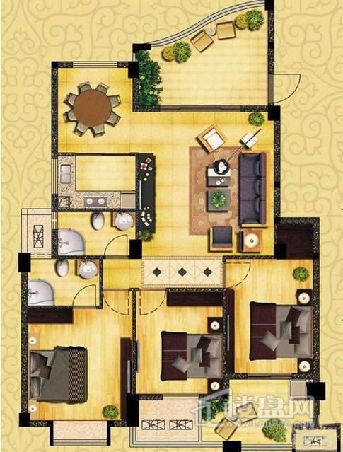 书香领寓户型图