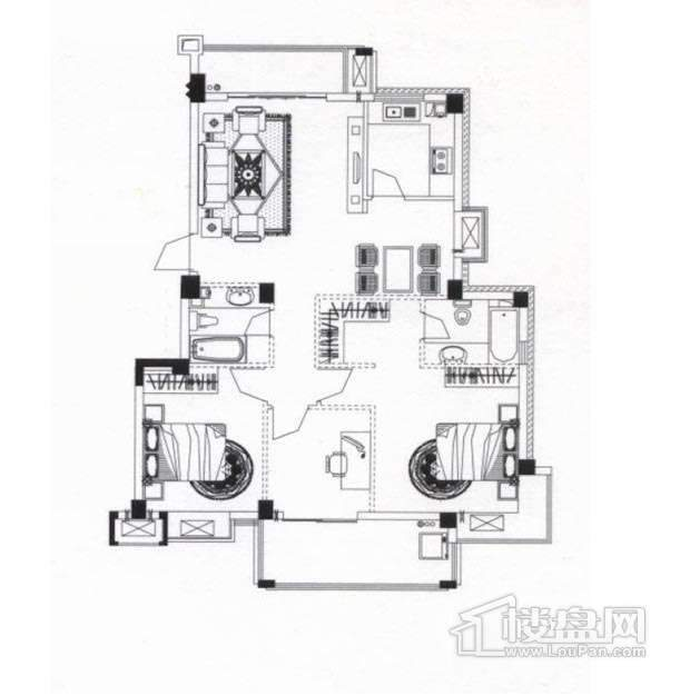 金辉枫尚二期户型图
