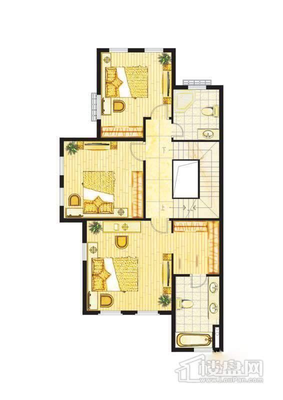 波西塔诺联排别墅户型-C1-A-二层平面