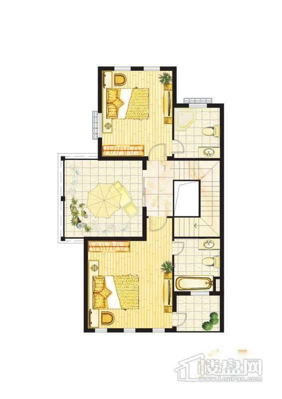 波西塔诺联排别墅户型-C1-A-三层平面