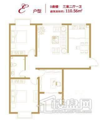 香悦澜溪D-E3室2厅1卫
