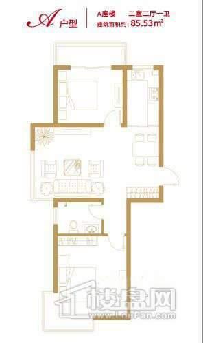 香悦澜溪A-A2室2厅1卫