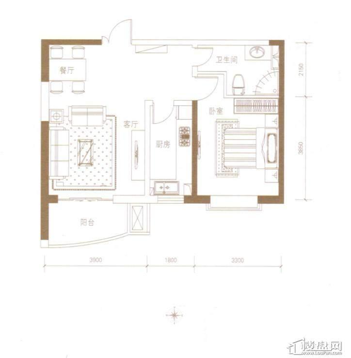 绿地世纪城·塞纳公馆5#户型图
