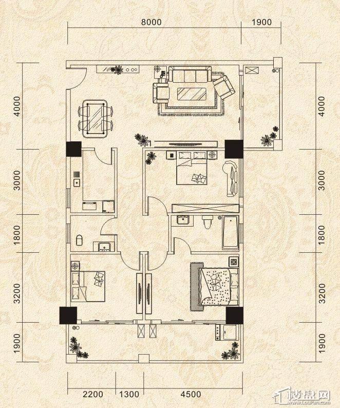 海丽世纪桃源户型图